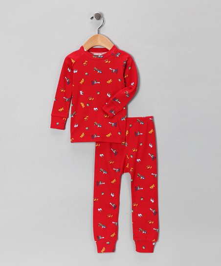 Sweet Potatoes Red Toy Pajama Set - Infant, Toddler & Kids