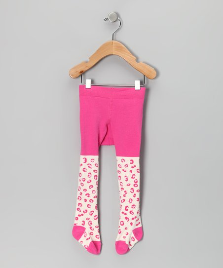 Pink Leopard Tights - Infant & Toddler