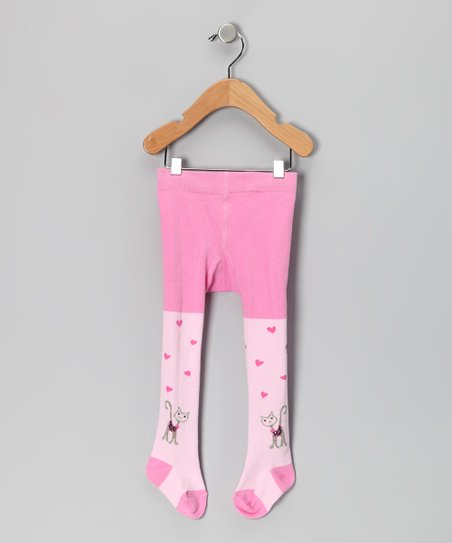 Pink Kitty Tights - Infant