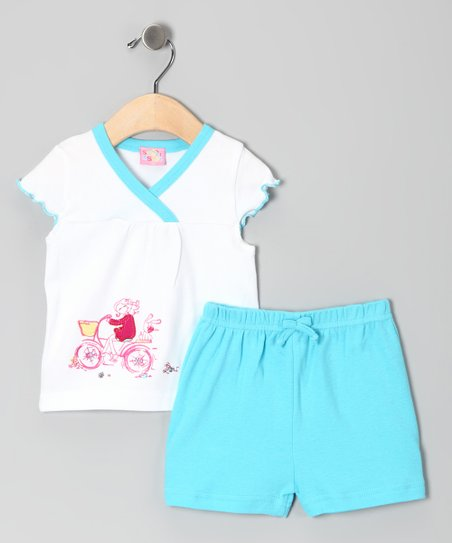Blue Bicycle Top &amp; Shorts