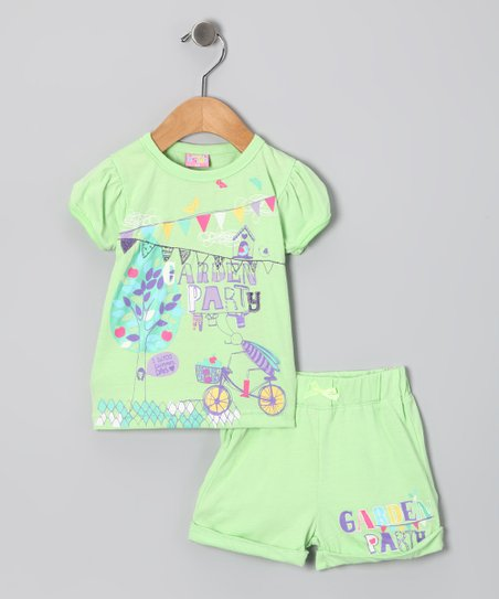 Mint &#039;Garden Party&#039; Tee &amp; Shorts