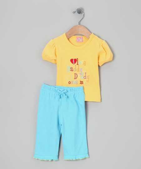 Yellow &#039;I Love Daddy&#039; Tee &amp; Pants - Infant