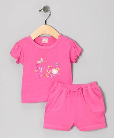 Pink 'Future Princess' Tee & Shorts
