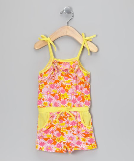 Pink & Yellow Flower Romper - Infant