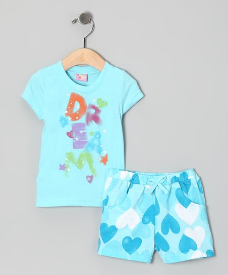 Light Blue 'Dream' Tee & Shorts