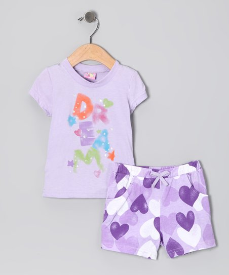 Lilac &#039;Dream&#039; Tee &amp; Shorts