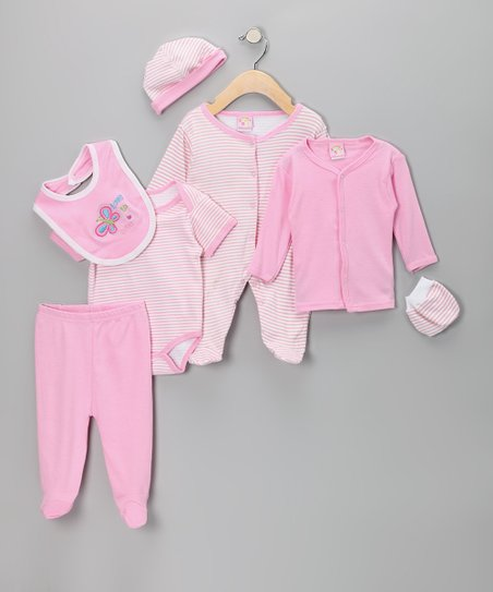 Sweet &amp; Soft Pink &#039;Love to Love&#039; Layette Set