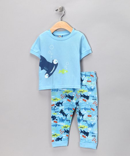 Blue Shark Tee & Pants - Infant