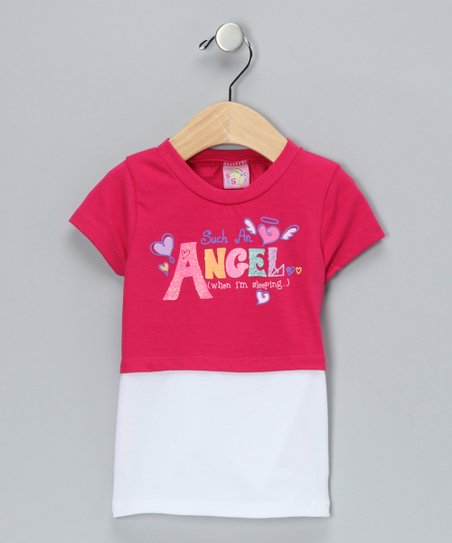 Hot Pink Angel Layered Tee
