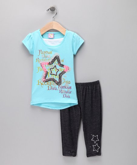 Blue Star Tunic & Denim Jeggings - Infant