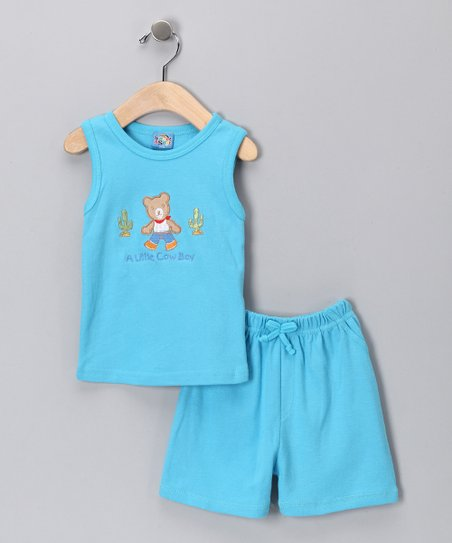Blue Bear Tank & Shorts - Infant