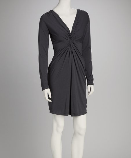 Synergy Charcoal Twist Organic Dress