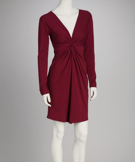 Synergy Wine Twist Organic Dress