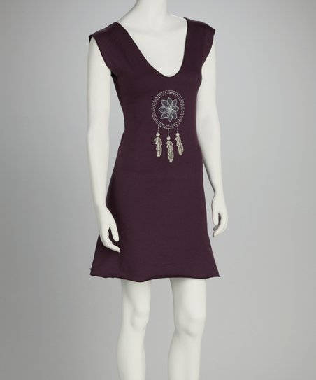 Synergy Plum Dream Catcher Organic Sleeveless Dress