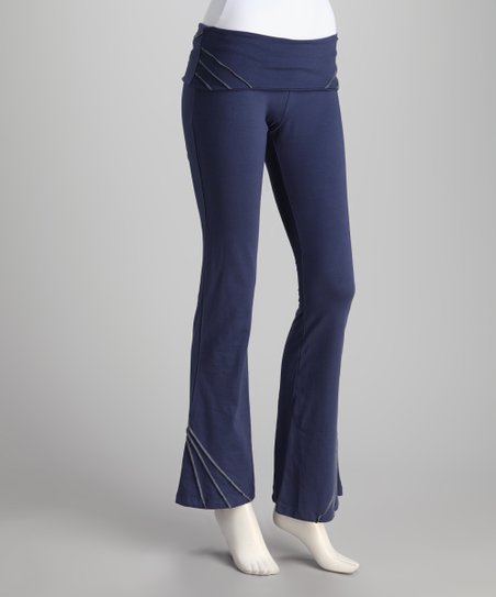 Synergy Navy Pico Organic Yoga Pants