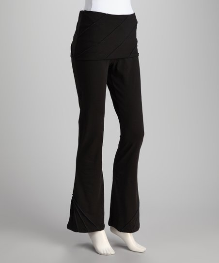 Synergy Black Pico Organic Skirted Yoga Pants