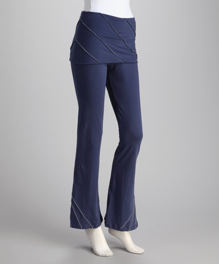 Synergy Navy Pico Organic Skirted Yoga Pants