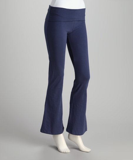 Synergy Navy Yogini Organic Yoga Pants