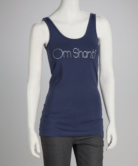 Synergy Navy &#039;Om Shanti&#039; Yoga Organic Tank