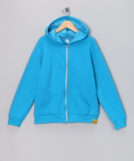 Neon Heather Blue Logo Flex Fleece Zip-Up Hoodie - Boys