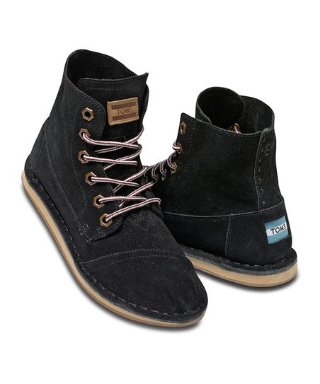 Black Suede Tomboy Boot - Women