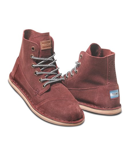 Burgundy Suede Tomboy Boot - Women