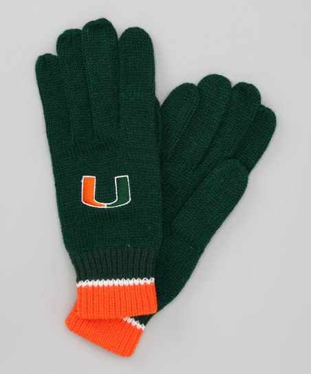 Green & Orange Miami Gloves