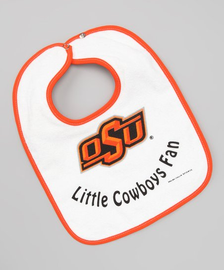White & Orange Oklahoma State Bib