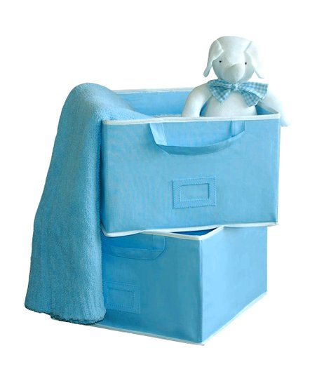 Blue Large Storage Bin - Set of Two