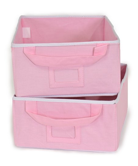 Pink Small Storage Bin - Set of Two