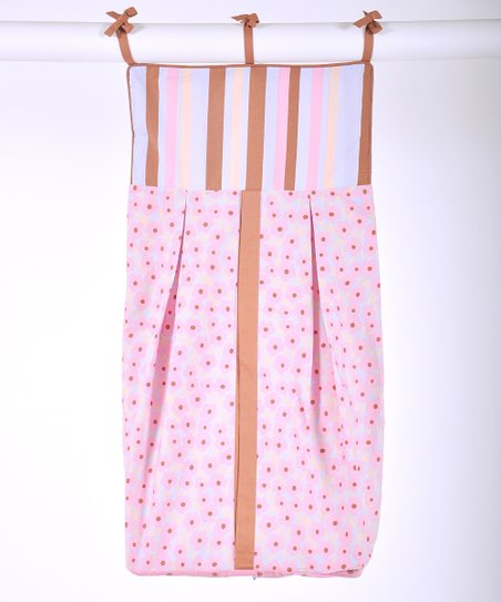 Periwinkle & Brown Field of Flowers Diaper Stacker