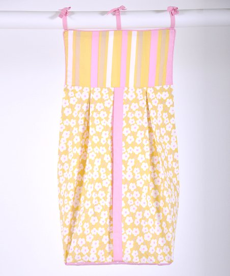 Pink &amp; Yellow Field of Flowers Diaper Stacker