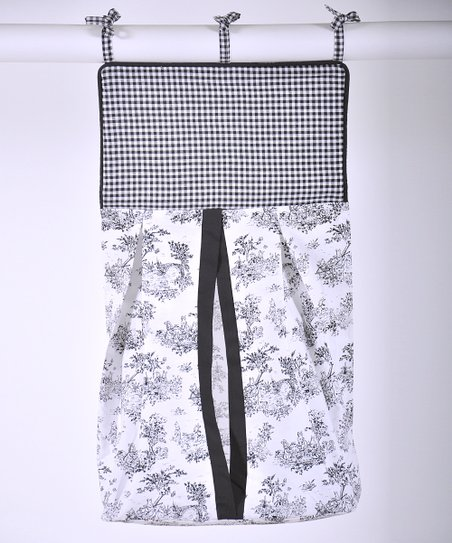 Black Toile Diaper Stacker