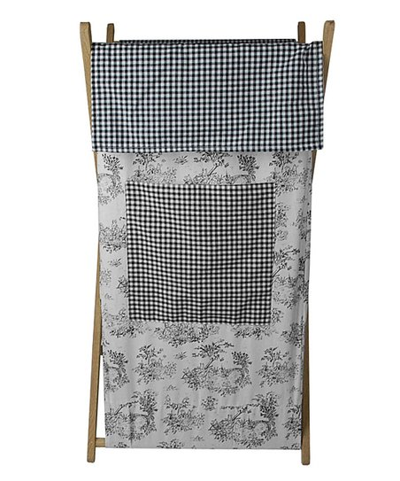 Black Toile Hamper