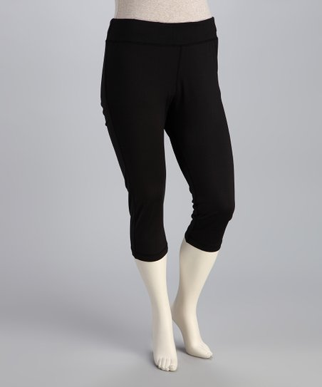 Black Plus-Size Capri Pants