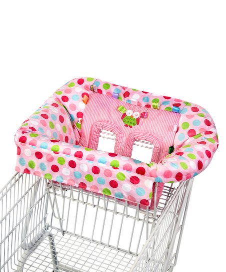 Pink Polka Dot Owl Plush Cart Cover