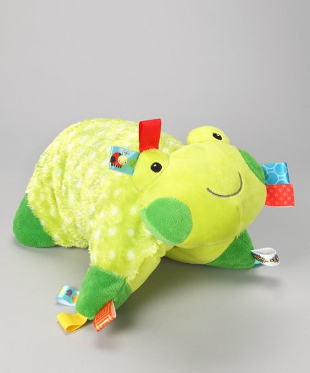 Green Cheery Frog Plush Pillow