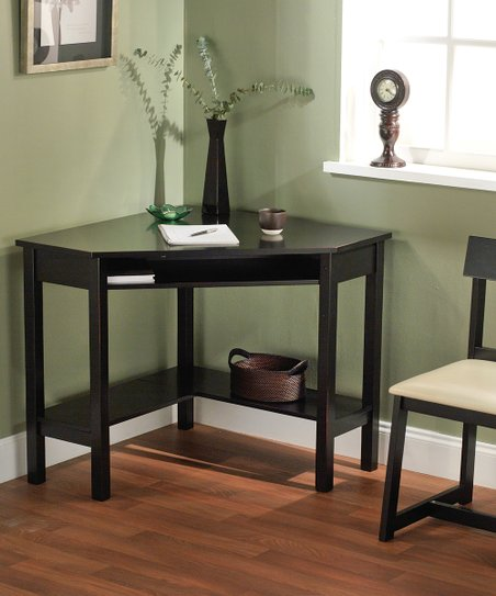 Black Aberdeen Corner Desk & Chair