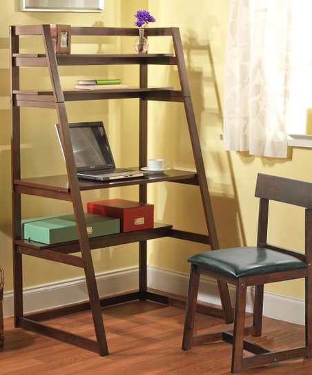 Espresso Ladder Desk & Chair