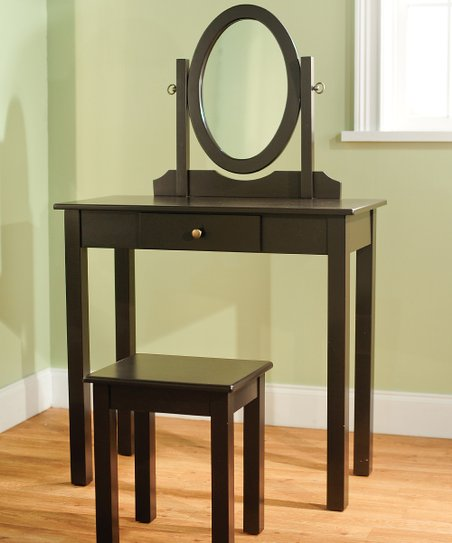 Espresso Three-Piece Vanity Set