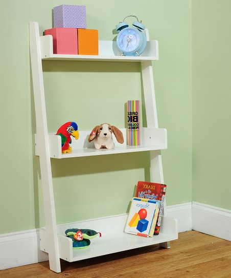 Soft White Three-Tier Shelf