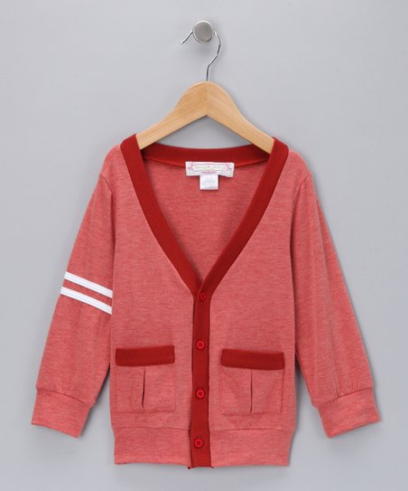 Red Slub Cardigan - Toddler
