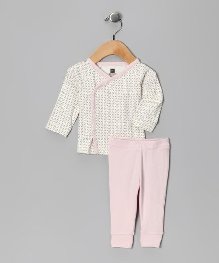 Rose Petal Lotus Wrap Top & Pants - Infant