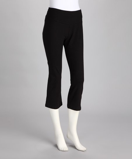 Black Everyday Skinny Shaper Capri Pants - Women