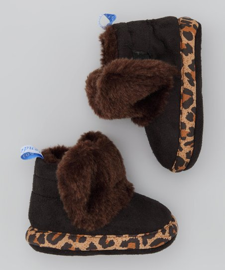 Brown Leopard Furry Boot