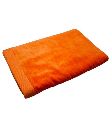 Orange Jumbo Terry Velour Beach Towel