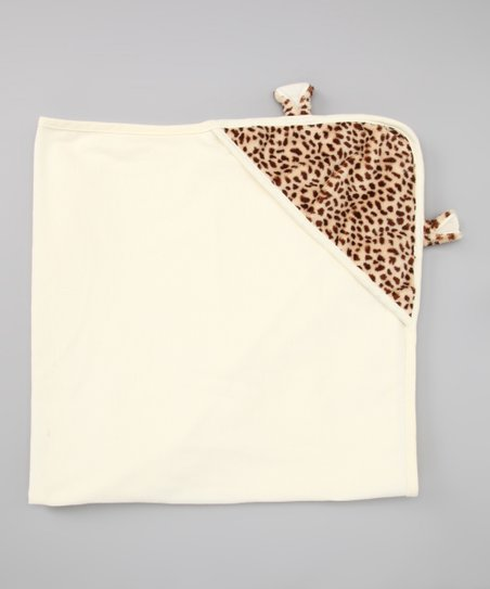 Ivory Cheetah Hooded Blanket