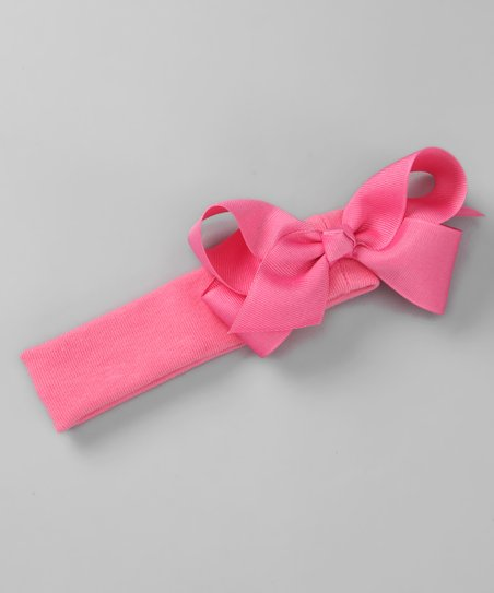 Pink Bow Stretch Headband