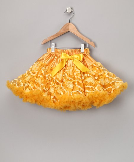 Yellow Lace Pettiskirt - Toddler & Girls