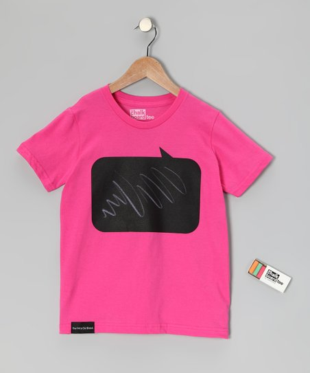 Fuchsia Speak Chalkboard Tee - Toddler & Kids